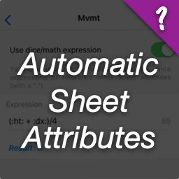 Automatic/calculated sheet attributes